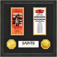 New Orleans Saints Super Bowl Ticket Collection Wall Frame - No Size