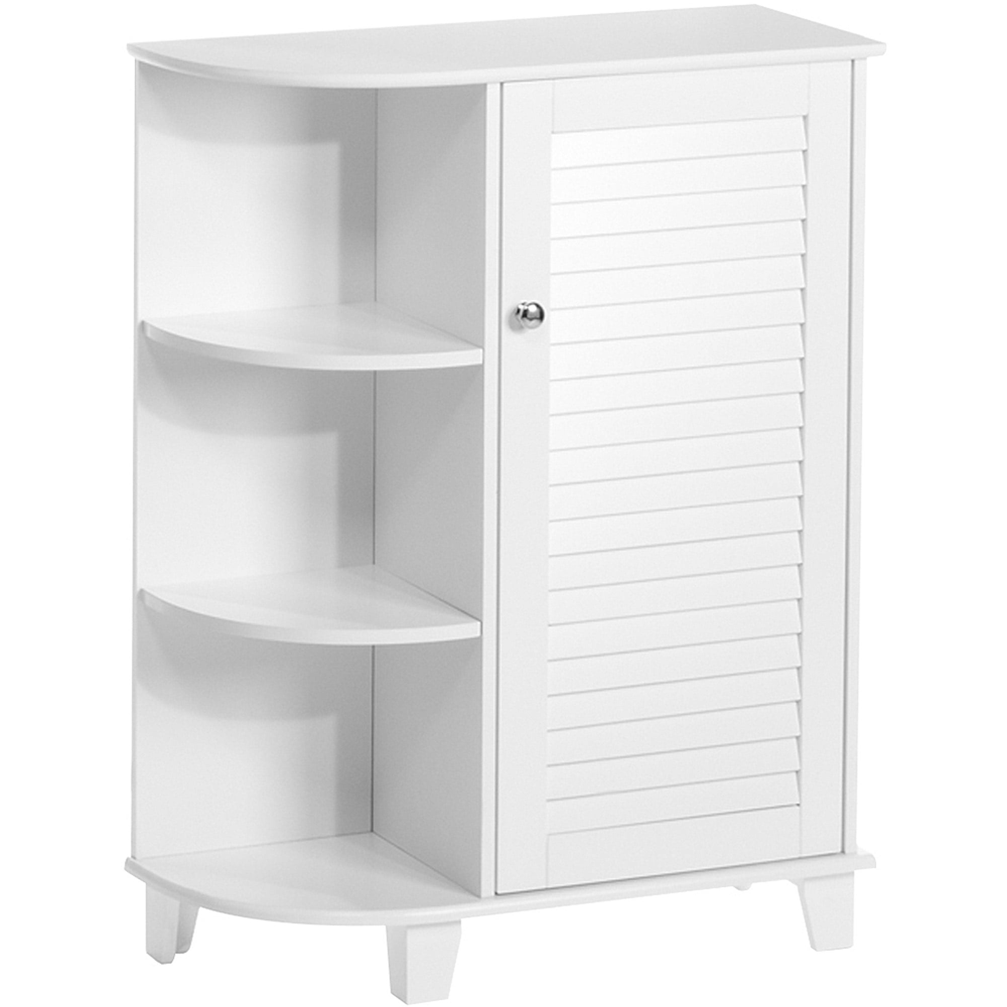 RiverRidge Home Ellsworth Floor Cabinet with Side Shelves, White ...