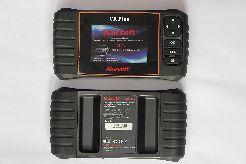 UNIVERSAL Diagnostic Scanner Tool SRS ABS ENGINE TRANSMISSION iCarsoft CR PLUS