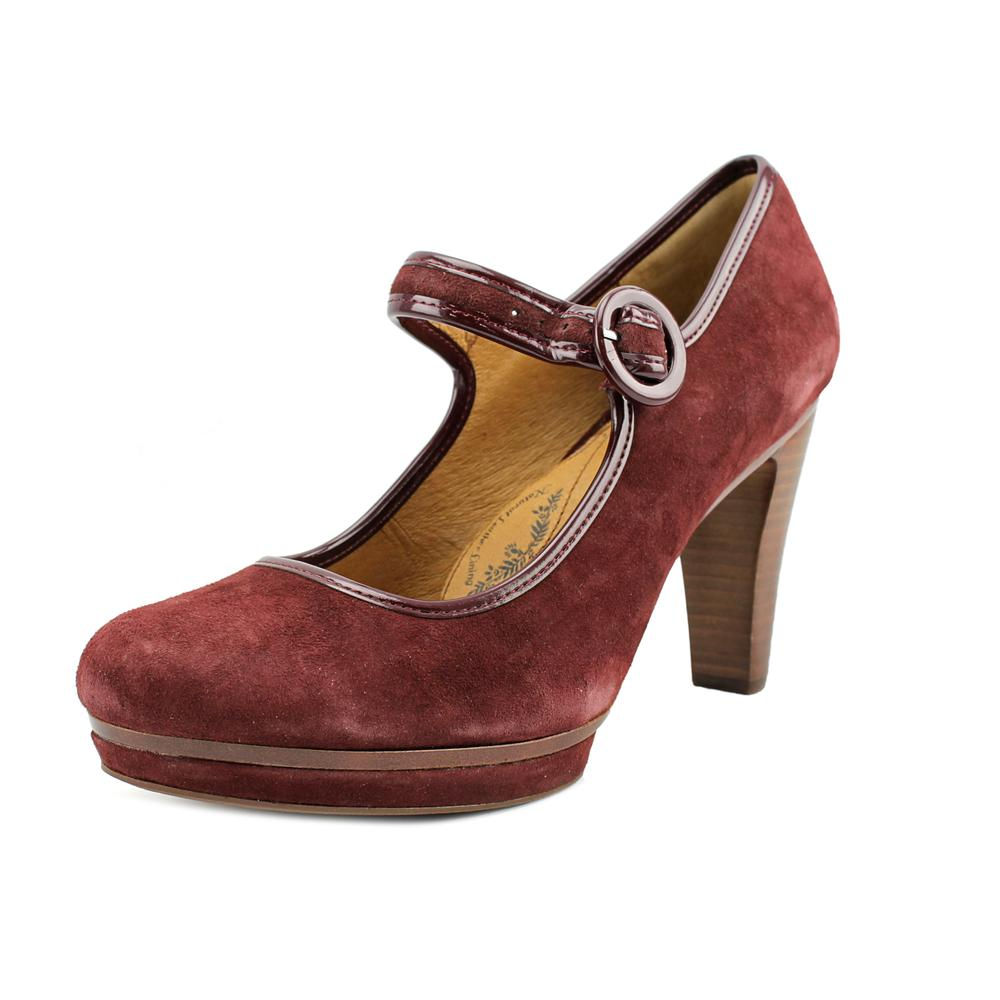 Sofft Monique Women Round Toe Suede Burgundy Mary Janes by Sofft