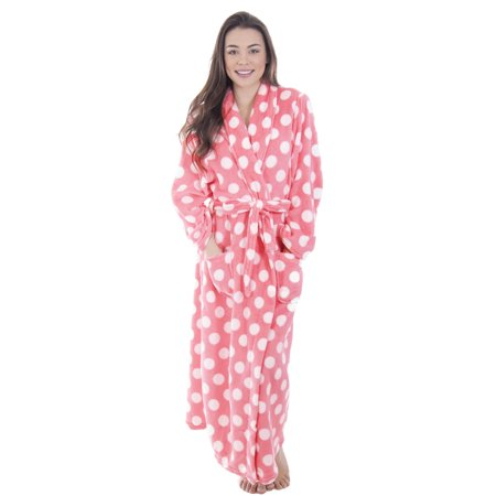 Women Luxury Plush Velvet Bathrobe Shawl Collar Robe Sleepwear Housecoat (Lined Velvet Robe)