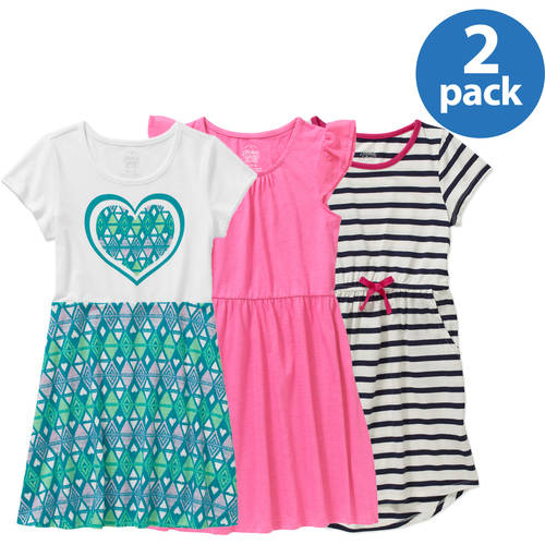 Faded Glory Girls' Essential It Dress 2-Pack, Your choice