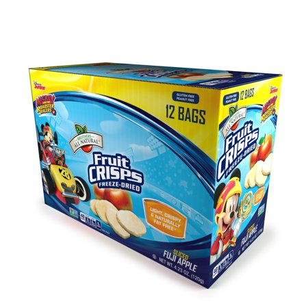 Brothers All Natural® Mickey Mouse Freeze-Dried Fruit Crisps, Fuji Apples, 4.23 Oz, 12 Ct](Mickey Mouse Cookie)