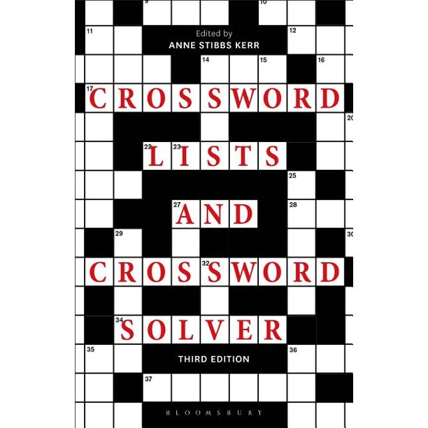 Crossword Lists And Crossword Solver Edition 3 Paperback Walmart Com Walmart Com
