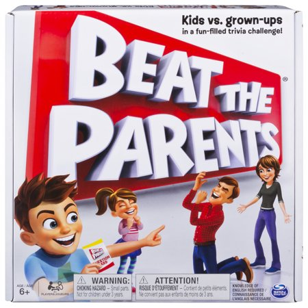 Beat the Parents, Family Board Game of Kids vs. Parents with Wacky Challenges (Edition May - Board Games Walmart