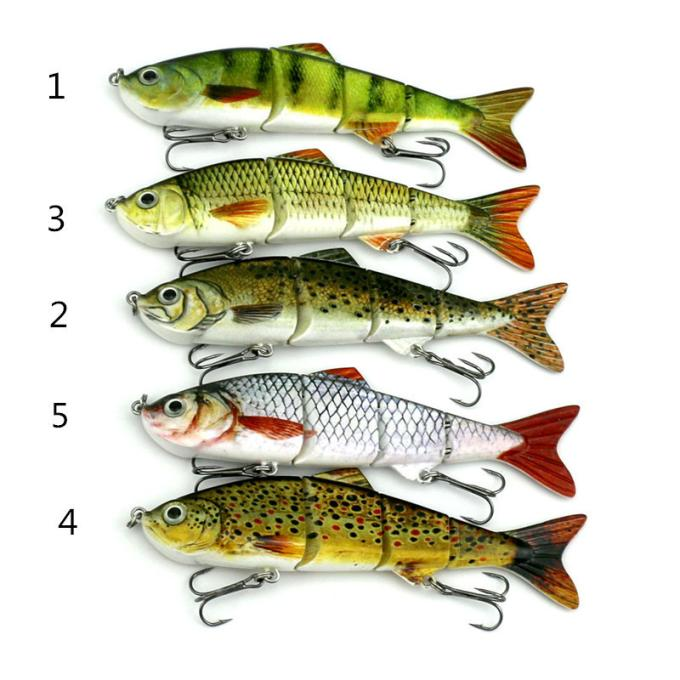 MosunxNew Minnow Fishing Lures Crank Bait Hooks Bass Crankbaits Tackle Sinking Popper by