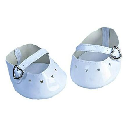 Dressed Teddy Bear - White Dress Shoe w/