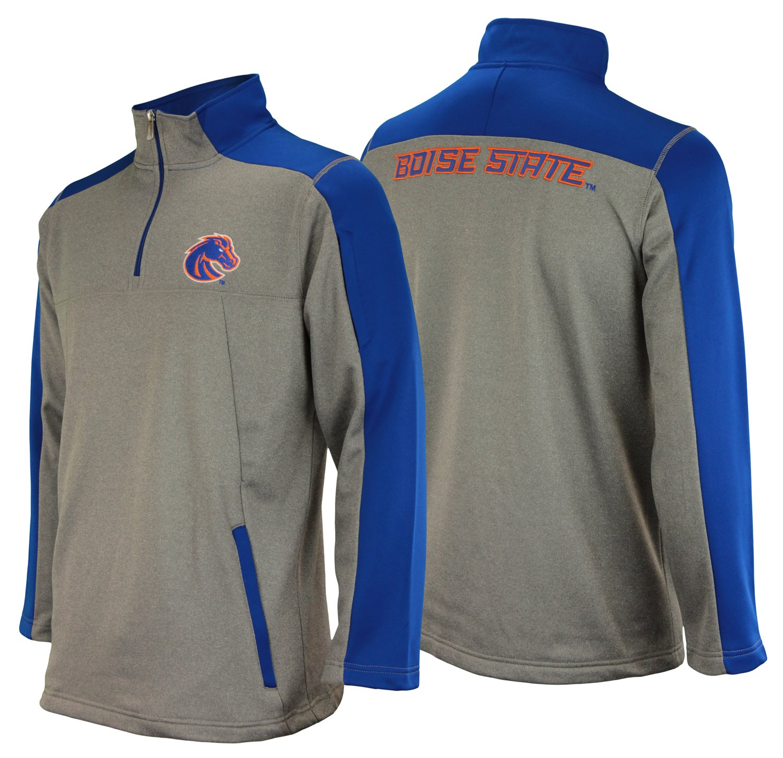 Outerstuff NCAA Men's Boise State Broncos Performance Poly Fleece 1/4 Zip Up