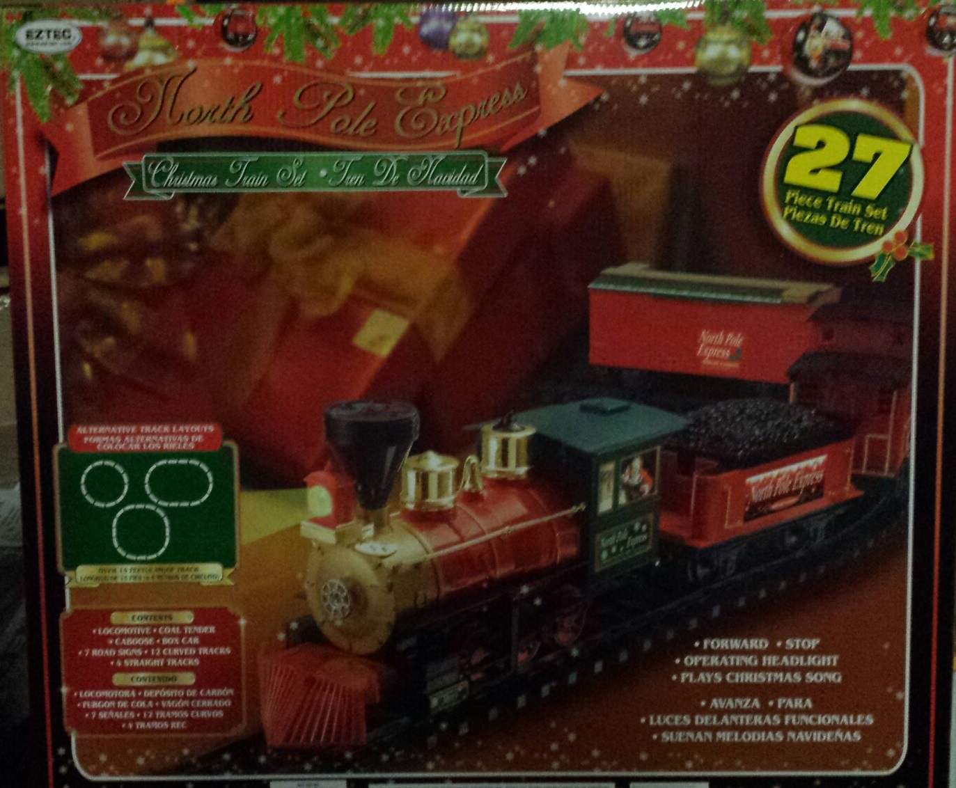 North Pole Express Christmas 27-Piece Train Set - Walmart.com