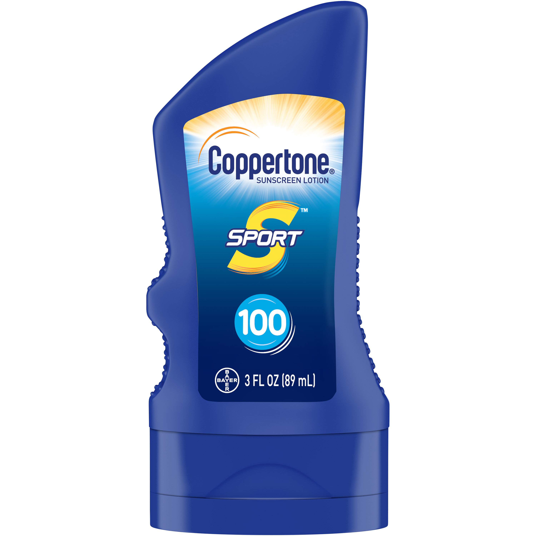 Coppertone Sport Sunscreen Lotion SPF 100, 3 fl oz Travel Size