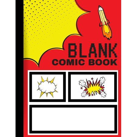Blank Comic Book: Create Your Own Comics (Paperback)