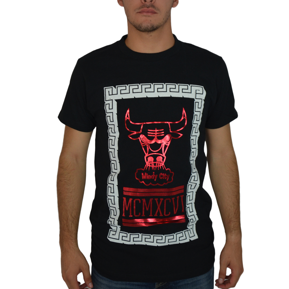We Love Fine Chicago Bulls Box MCMXCVI Black Licensed T-shirt New Sizes S-L