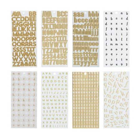 gold mini alphabet letter stickers 1226 pieces