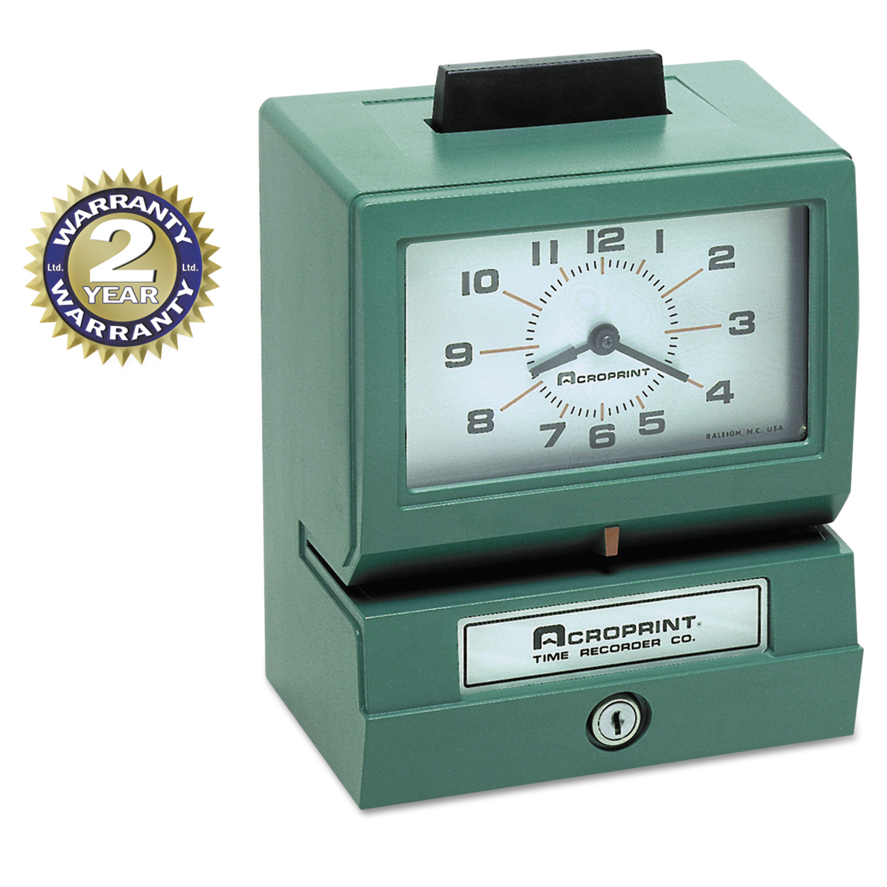 Acroprint Model 125 Analog Manual Print Time Clock with Month Date 0-23 Hours Minutes -ACP011070413 by ACRO PRINT TIME RECORDER