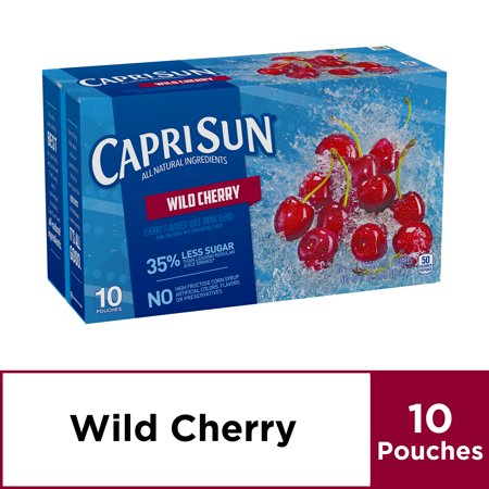 Capri Sun Wild Cherry Flavored Juice Drink Blend, 10 ct - Pouches, 60.0 fl oz Box Blend Wild Cherry Flavor