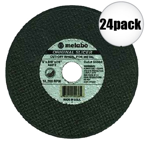 """Metabo 55334 5x040x7/8"""" Original Slicer 24-Pack"""