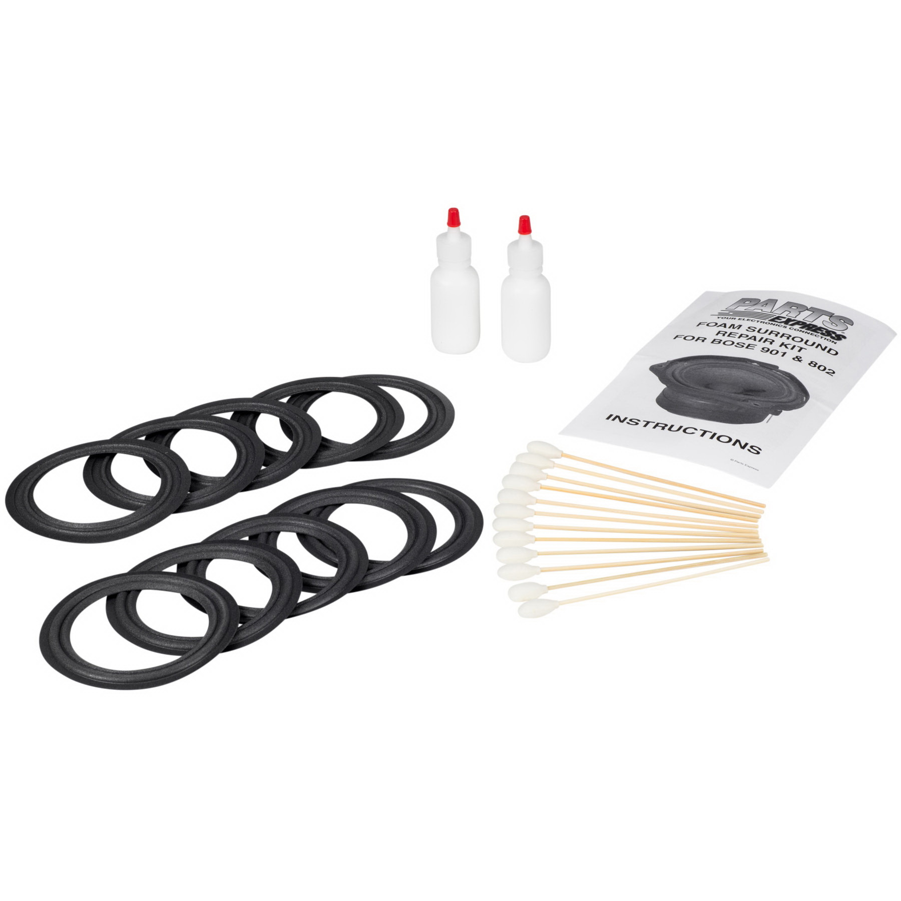 Parts Express Speaker Surround Re-Foam Repair Kit For Bos...
