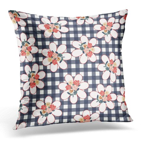 USART White Folk Pretty Vintage Feedsack Pattern in Small Flowers Millefleurs Floral Sweet Quilting Decoupage Pillow Case Pillow Cover 20x20 -