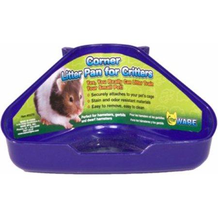 Ware Mfg. Inc. Bird/sm An-Corner Litter Pan For Critters- Assorted 6.5x4.5x3