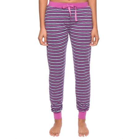 Noble Mount Women's Double Layer Jersey Jogger Lounge Pants Everlast Jersey Pants