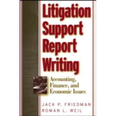 Litigation Support Report Writing  Accounting  Finance  And Economic Issues