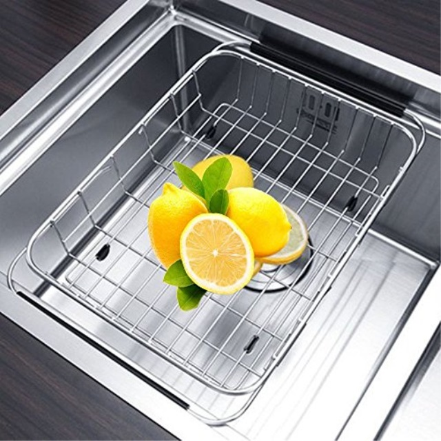 Adjustile Drying Rack, Aiduy Dish Drainer Over Sink Dish Rack Kitchen  Stainless Steel Vegetile Fruit