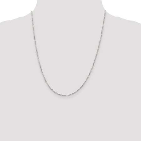 925 Sterling Silver 1.75mm Link Figaro Chain Necklace 22 Inch Pendant Charm Fine Jewelry For Women Gifts For Her - image 2 de 9