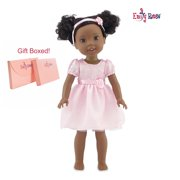 "Glitter Girls Doll Clothes by Emily Rose 14 Inch Doll Clothes for Wellie Wishers | Gift Boxed! - 14"" Doll Dress with Headband 