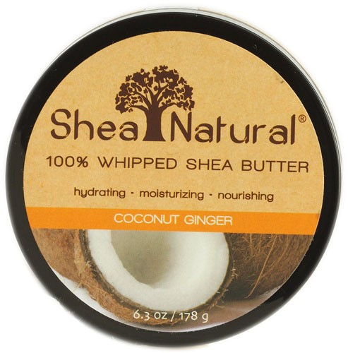 Shea Natural Whipped Shea Butter, Coconut Ginger, 6.3 Oz