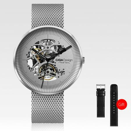 - Xiaomi CIGA Design MY Series Men Automatic Mechanical Analog Watch Hollow-out Steel Wrist Watch Business Watch
