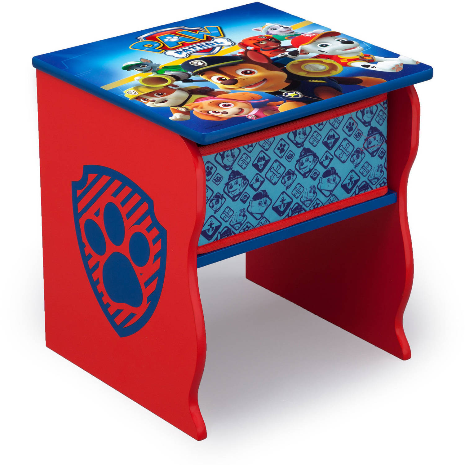 Nick Jr. PAW Patrol Wood Side Table with Storage by Delta Children