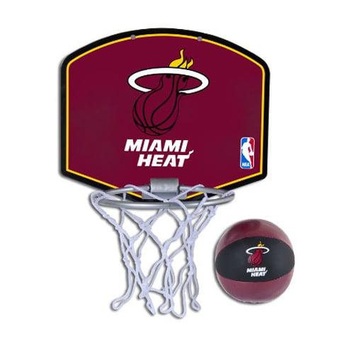 Spalding Over the Door Mini Basketball Hoop Miami Heat by Spalding