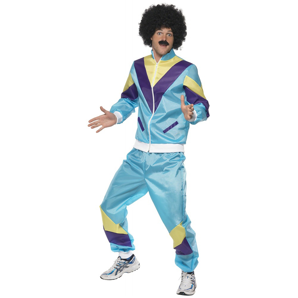 80and#039;s Height of Fashion Shell Suit Adult Costume - Medium