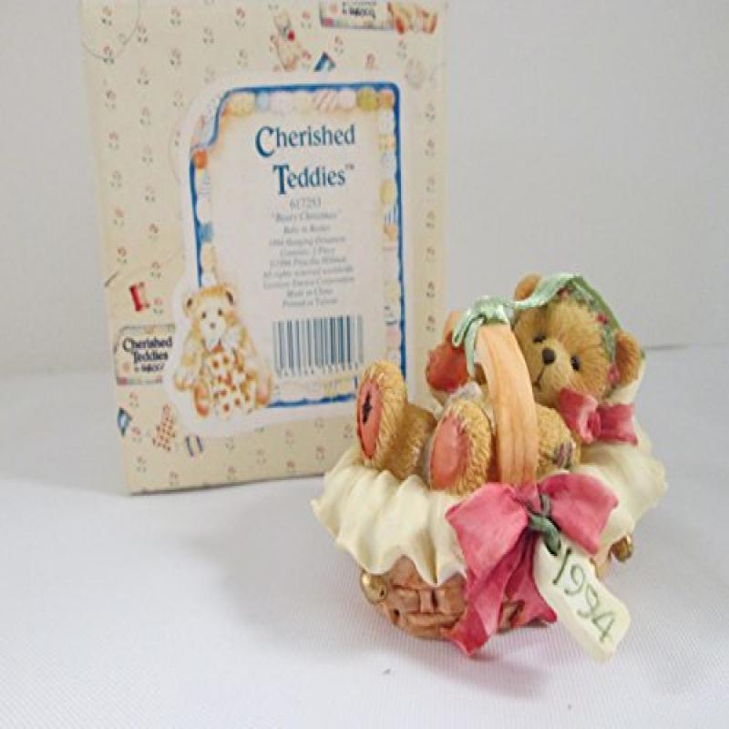 ENESCO Cherished Teddies Beary Christmas Baby in Basket H...