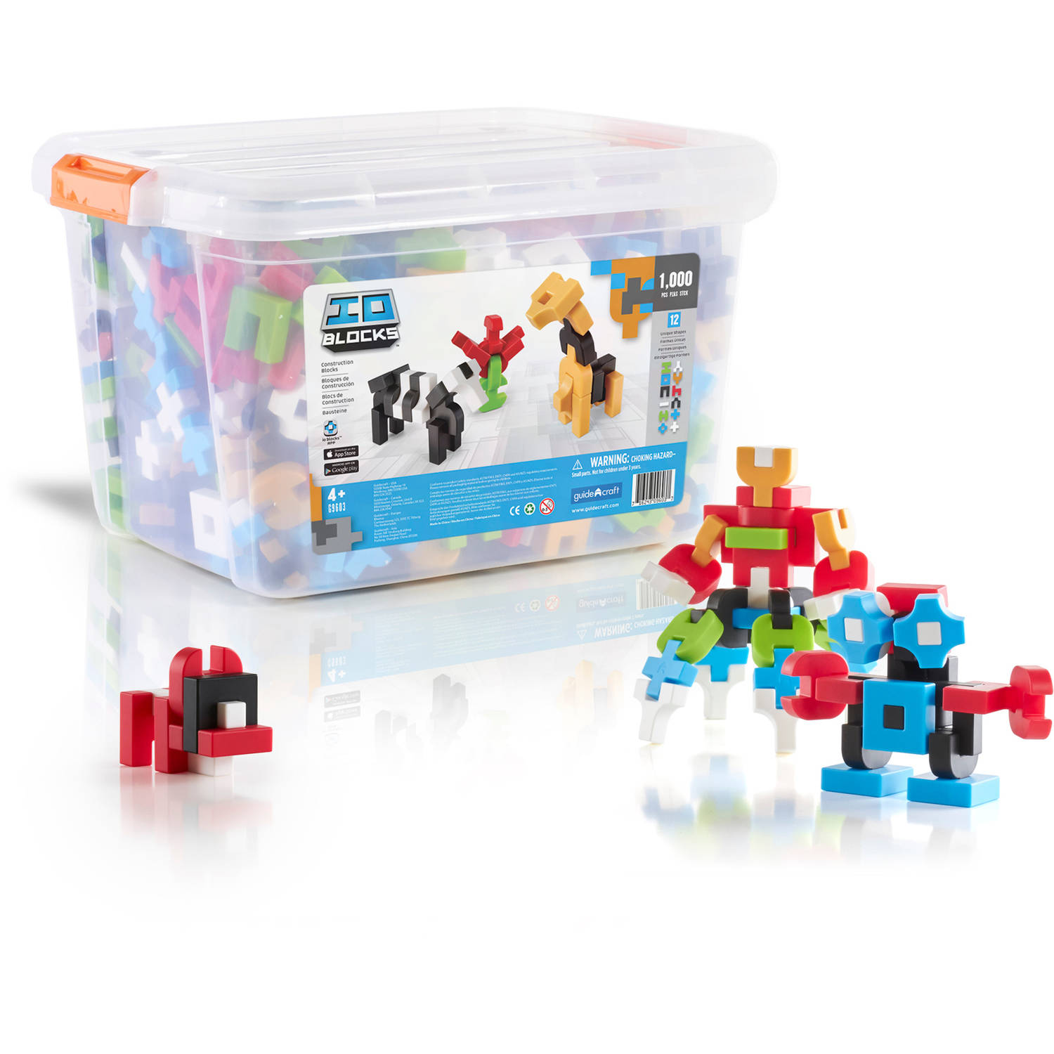 Guidecraft IO Blocks 1000-Piece Education Set
