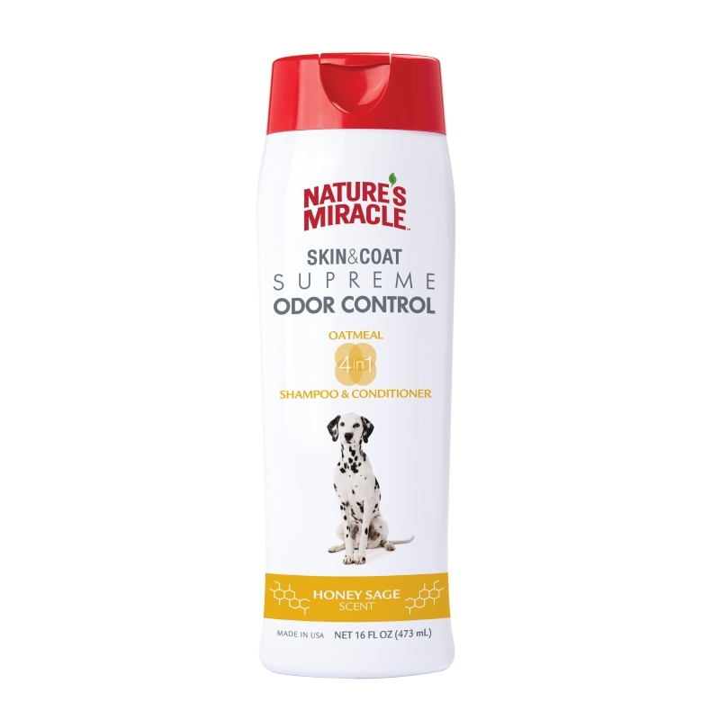 Nature's Miracle Odor Control Dog Shampoo and Conditioner, Honey Sage by Spectrum Brands