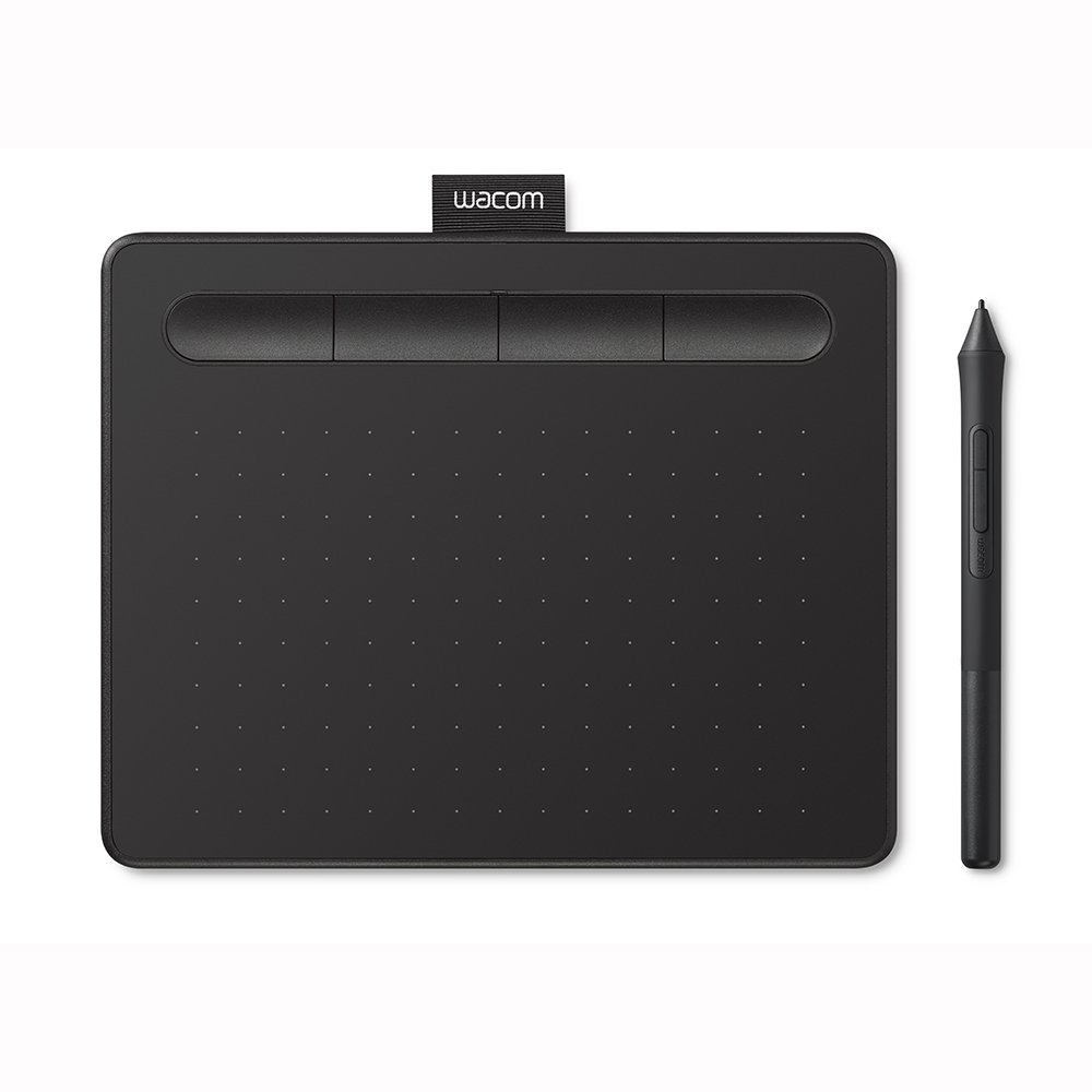 "Wacom Intuos Graphics Drawing Tablet with 3 Bonus Software included, 7.9""x 6.3"", Black, Small (CTL4100)"