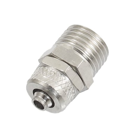 Unique Bargains Straight Type Pipe Fitting Coupler Adapter for 5 x 6mm Tube
