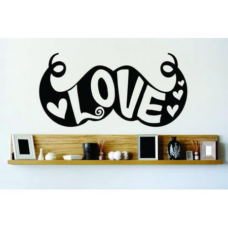 New Wall Ideas Mustache Love 10x20 Inches - Mustache Centerpiece Ideas