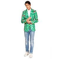 OffStream Men's Xmas Time Christmas Blazer