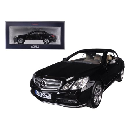 2010 Mercedes E Class E500 Cabriolet Black with Cream Interior 1/18 Diecast Model Car