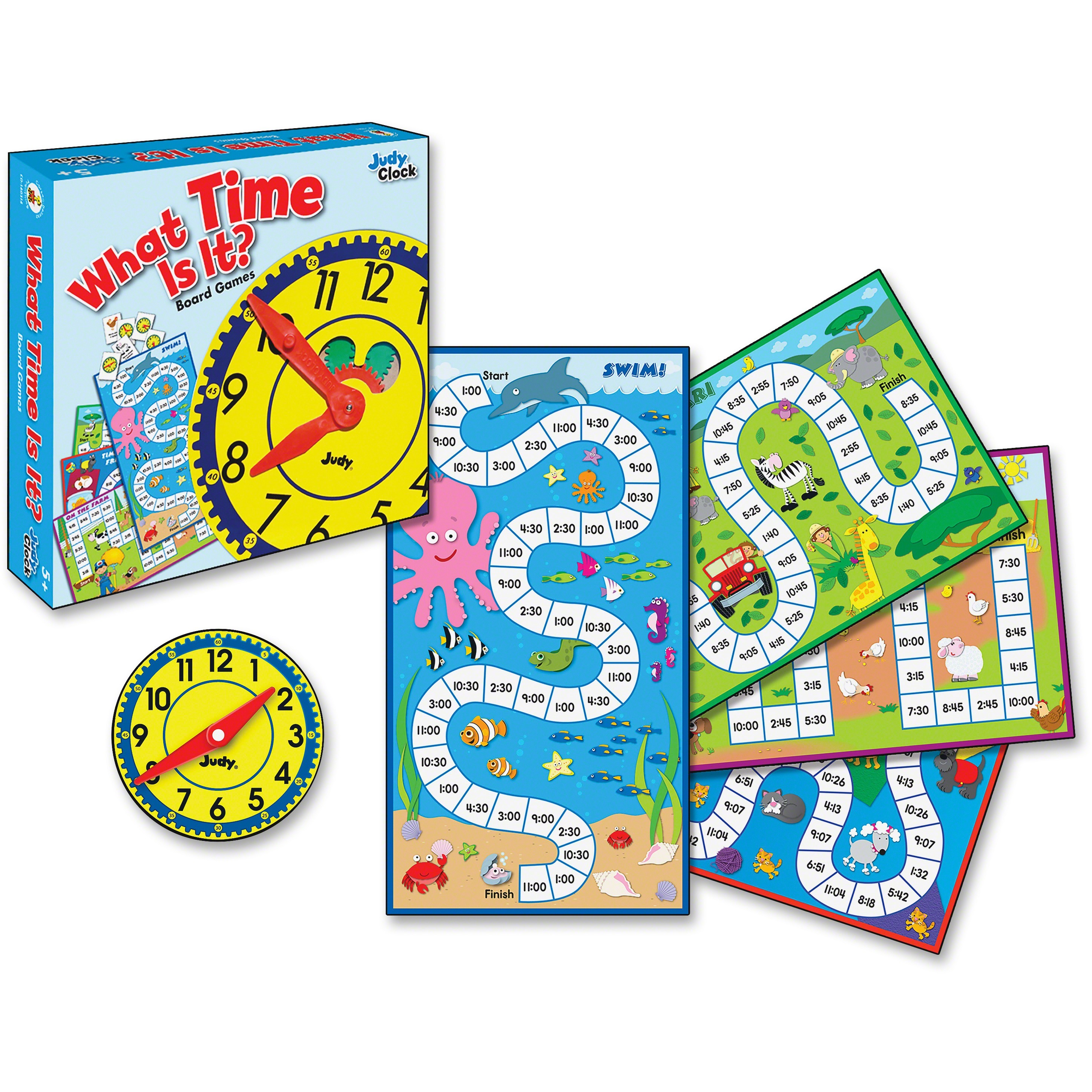 Carson-Dellosa, CDP140314, Grades K-3 What Time Is It Board Game, 1 Each