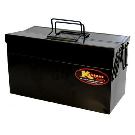 Custom Shop's Metal Folding Storage Box for Auto Body Tool Storage ()