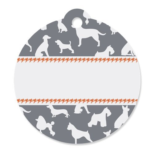 Dog Silhouettes - Party Favor Tags (Set of 20)