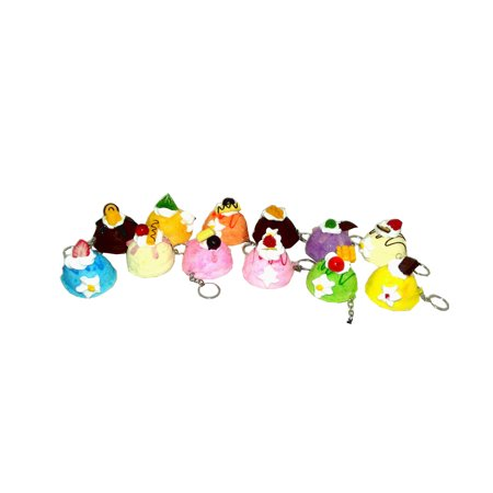 Squishies Decadent Ice Cream Top Soft Squeezable Keychain, Assorted, 1 count (Ice Cream Keychain)