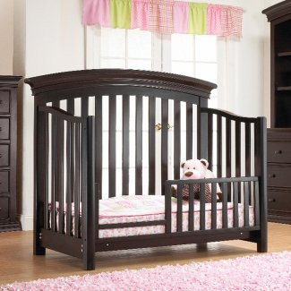 Highway Guard Rails - Sorelle Verona Toddler Guard Rail in Espresso