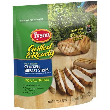 Tyson Grilled & Ready Chicken Breast Strips, 22 oz ...
