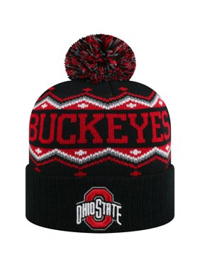 82ccfd033a7 Product Image Men s Russell Black Scarlet Ohio State Buckeyes Sewn Cuffed  Knit Hat With Pom - OSFA