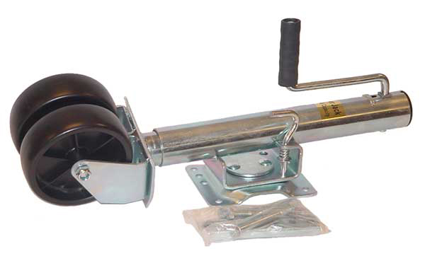 2 Wheel 2000 Pound Heavy Duty Trailer Jack Easy Bolt On Design Swingaway Towing by Ridge Rock