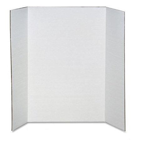 Elmers   Scholar Pro Display Board  36 X48   White  Sold As 1 Each  Epi 730190  Sold As 1 Ea  Corrugated Board Stands On Its Own  Folds Out To Form    By Elmers